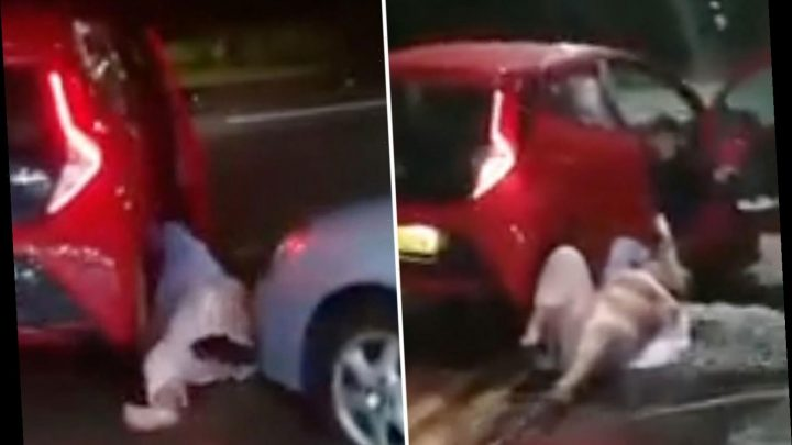 Woman's horrifying screams as she's dragged along street by car in her pyjamas