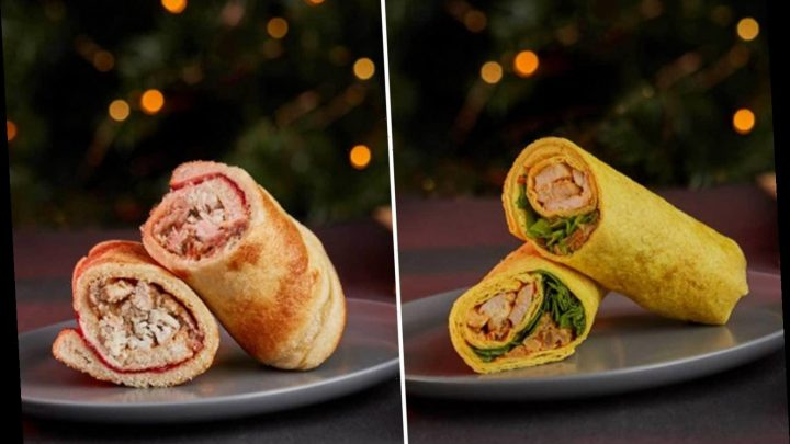 Tesco's Christmas sandwich range 2019 includes a Yorkshire pudding wrap and turkey curry and bhaji wrap