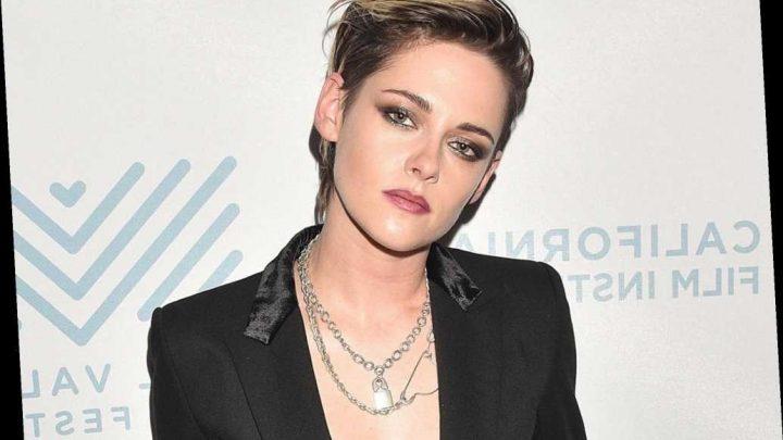 Kristen Stewart wears a bra as a shirt to accept film festival award