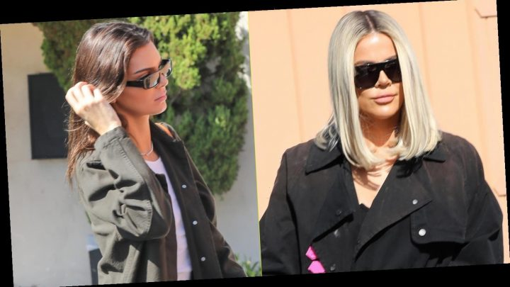 Khloe Kardashian Meets Up With Kendall Jenner & Family For Lunch in LA