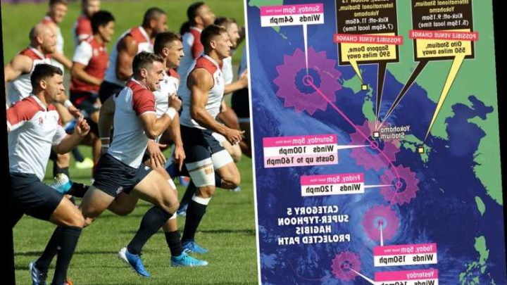 Rugby World Cup bosses finally admit England game with France is OFF due to super typhoon Hagibis – The Sun