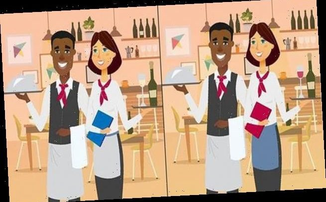 Puzzle challenges you to spot TEN differences in restaurant scene