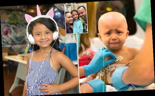 Heartbreaking photo of a toddler undergoing cancer treatment