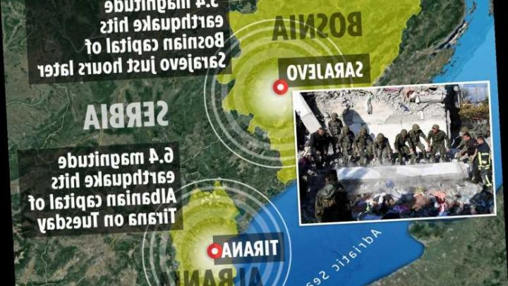 Europe braced for further earthquakes after Albania and Bosnia as top seismologist predicts more killer tremors