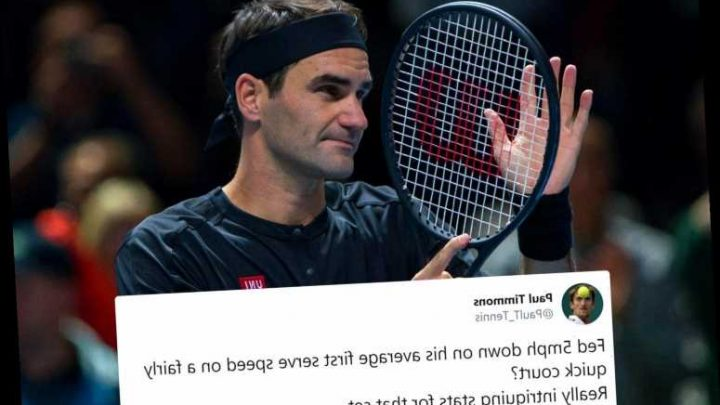 Tennis fans left baffled by ATP Finals speed gun showing Federer serving 5mph SLOWER and other random results – The Sun