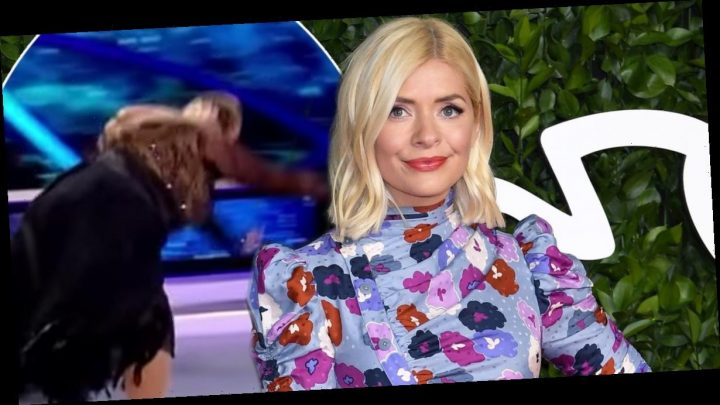 Holly Willoughby says Gemma Collins' Dancing On Ice fall was 'spectacular'