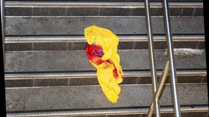 Two men stabbed during homeless brawl in Manhattan subway station