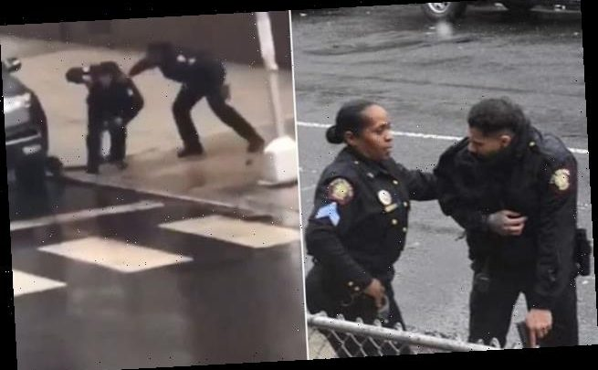 Hero female cop saves wounded colleague during Jersey City shootout