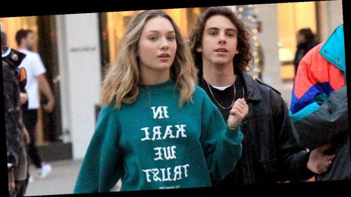 "I Want to Be Wearing That: Maddie Ziegler's ""In Karl We Trust"" Vintage Sweatshirt"