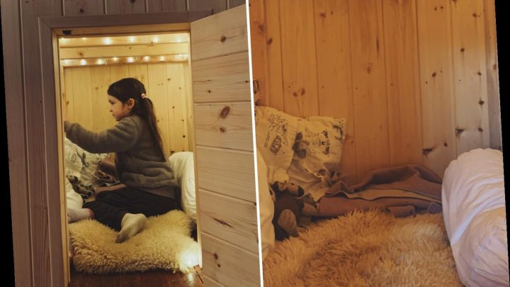 Mum creates magical hideaway for her daughter using dead space in her attic