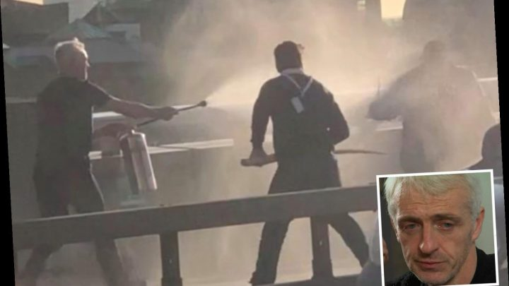 London Bridge hero who sprayed knifeman with fire extinguisher 'prepared to die' & screamed at him to blow suicide belt – The Sun