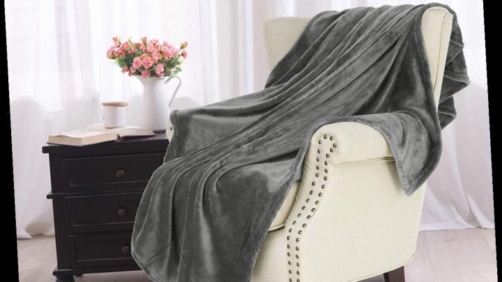 Score This Luxurious and Plush Throw Blanket for Just $16 on Amazon!