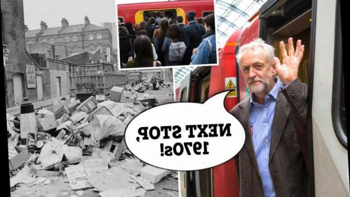 Cut rail fares? Corbyn's cronies in the RMT strike will bring Britain to her knees and take us back to the 1970s – The Sun