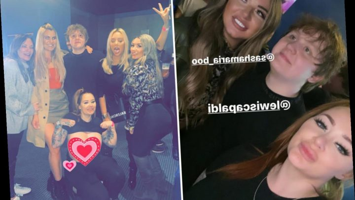 Lewis Capaldi poses for pics with porn stars Chelsea Ferguson and Sasha Maria after sold-out gig – The Sun