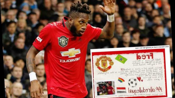 Young Man Utd fan creates heartwarming supportive card for Fred after racist abuse in Man City win – The Sun