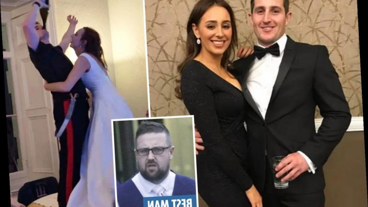 Unhappy couple split 'within hours of wedding' after the groom's best man brother punched his new bride at reception