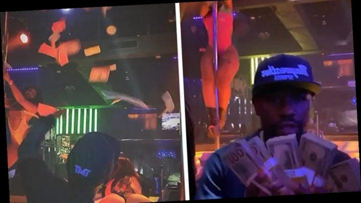 Floyd Mayweather Brings Stacks Of $100 Bills To Miami Strip Club, Makes It Rain!
