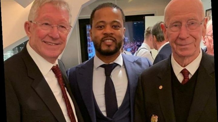 Man Utd legends Ferguson, Evra and Charlton get together in Old Trafford VIP box to celebrate win over Alkmaar – The Sun