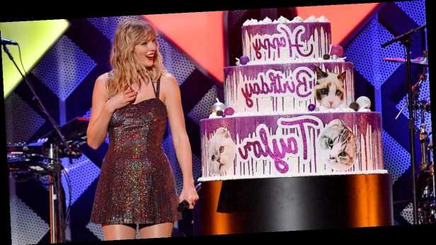 Taylor Swift Celebrates Her 30th Birthday With — What Else? — a Giant Cat-Themed Cake
