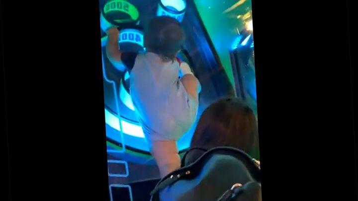 Toddler traps himself inside Skee-Ball machine