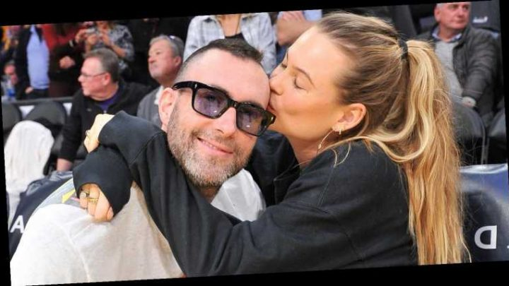 Adam Levine & Behati Prinsloo Show Off Some Cute PDA at Lakers Game!