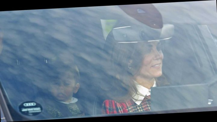 Kate Middleton Wears a Festive Red Tartan Dress to the Queen's Annual Christmas Lunch