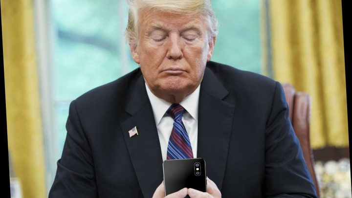 Trump snipes at Democrats on Twitter during impeachment hearing