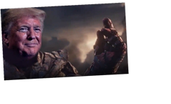 Trump releases bizarre new campaign video portraying him as Thanos – the genocidal supervillain from Marvel movies – The Sun
