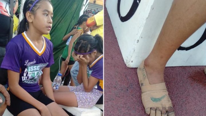 Runner with homemade 'Nike' given new shoes