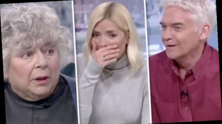 Phillip Schofield steps in to apologise as Miriam Margoyles swears live on air