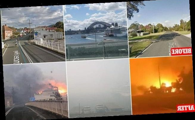 Before and after pictures show devastation of the Australian bushfires
