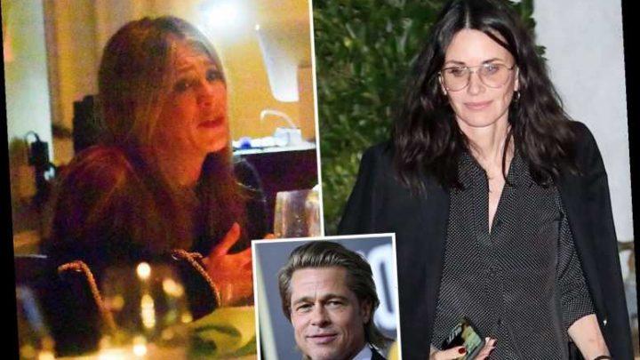 Jennifer Aniston grabs dinner with best friend Courteney Cox after run-in with ex Brad Pitt at Golden Globes