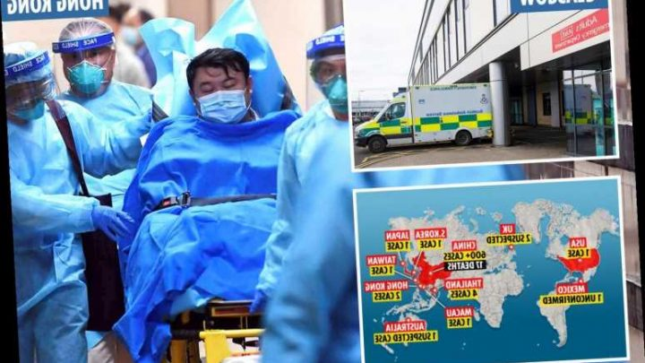 Two people in UK hospital with suspected coronavirus after flying in from China