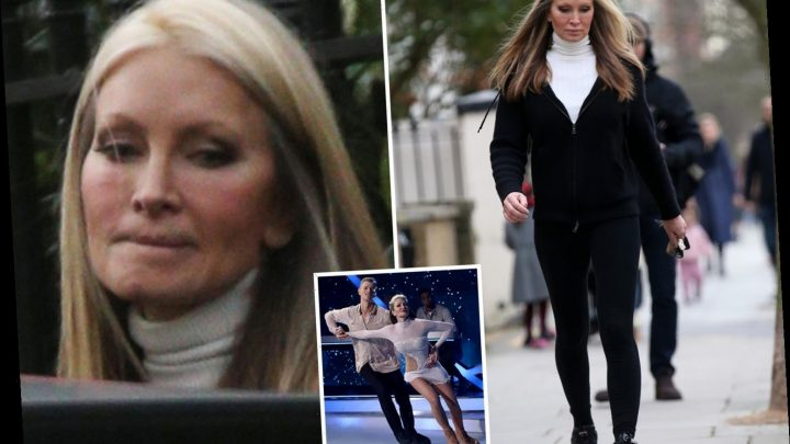 Dancing On Ice's Caprice Bourret spotted looking downcast after missing show over bust-up with Hamish Gaman – The Sun
