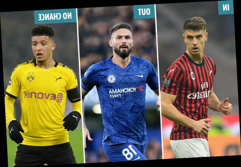 Cavani, Dembele and Piatek still on Chelsea transfer radar, Giroud exit likely but Chilwell and Sancho deals must wait – The Sun