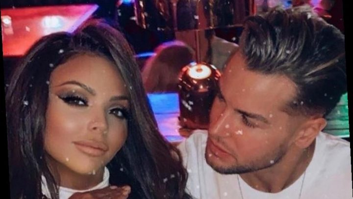 Jesy Nelson and Chris Hughes celebrate one year together after first snog in a kebab shop