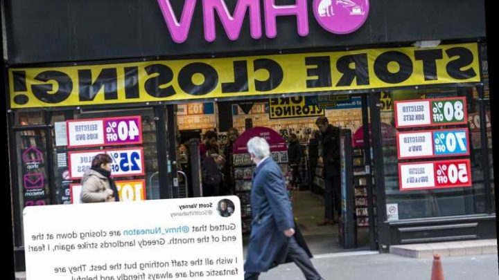 HMV fans shocked as the chain closes several stores without warning