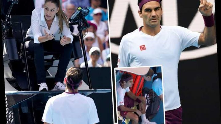 Roger Federer survives SEVEN match points and injury to beat Tennys Sandgren despite warning for 'f***' outburst – The Sun
