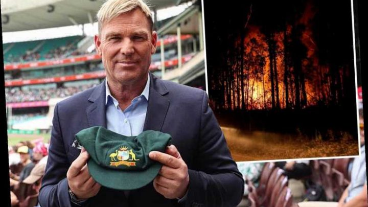 Shane Warne's baggy green cap raises over £500k for Australia bushfire charity leaving cricket legend 'blown away' – The Sun