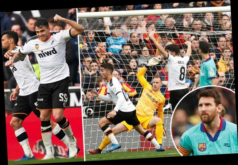Valencia 2 Barcelona 0: Jordi Alba own goal and Gomez strike gives Real Madrid the chance to top LaLiga – The Sun