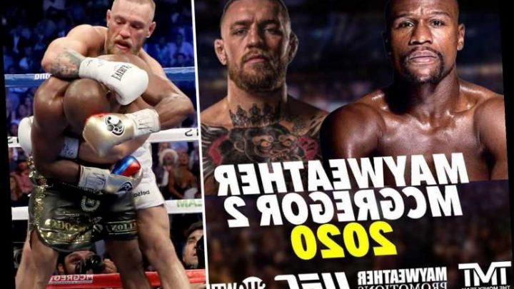 Floyd Mayweather appears to confirm Conor McGregor rematch THIS YEAR after putting up fight poster following Cowboy KO – The Sun