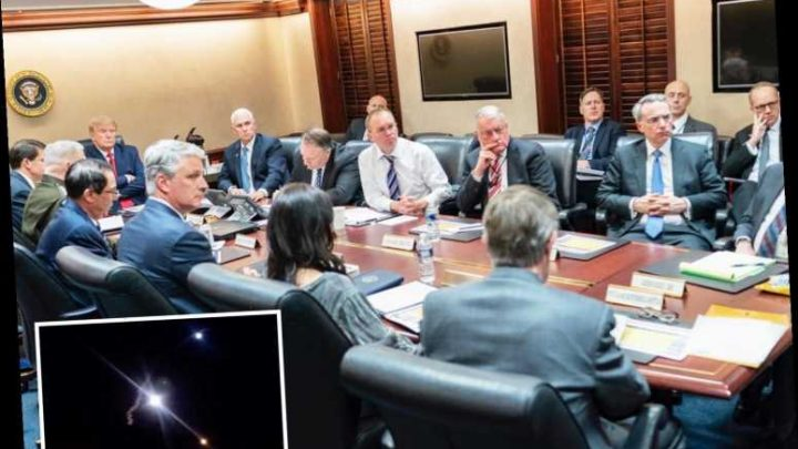 New pic shows steely-eyed Donald Trump chairing crisis meeting in Situation Room following Iran missile attacks – The Sun