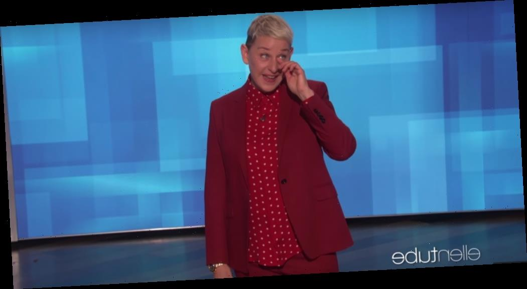 """Ellen DeGeneres Pays Tearful Tribute To Kobe Bryant, Urges Viewers To """"Celebrate Life"""""""