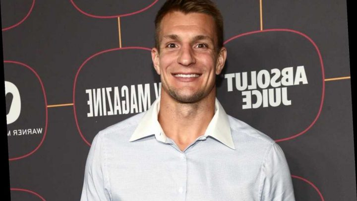 Gronk making the rounds in Miami ahead of Super Bowl party
