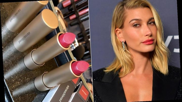 Hailey Bieber gives a sneak peek of a new beauty product at the Golden Globes after-party