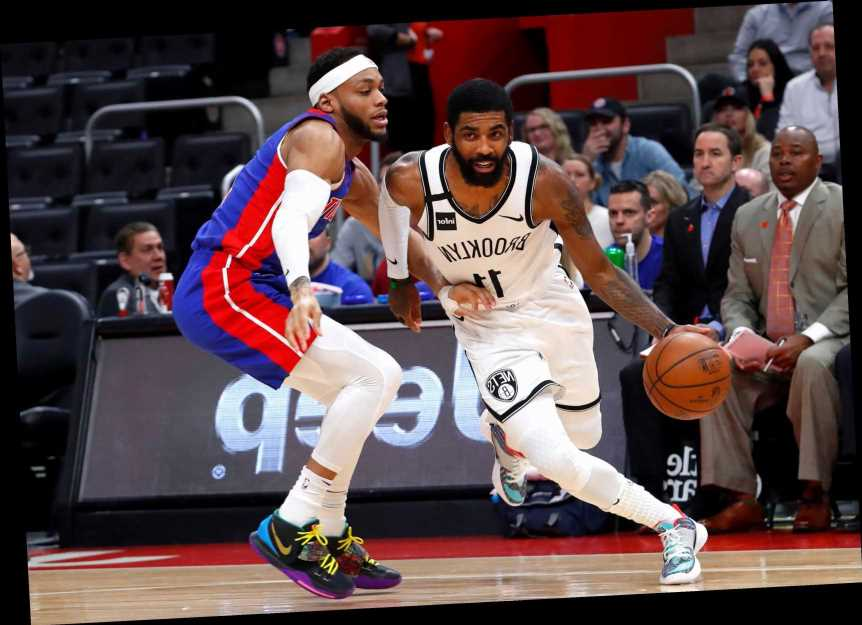Kyrie Irving pours in 45 as Nets clip Pistons in OT