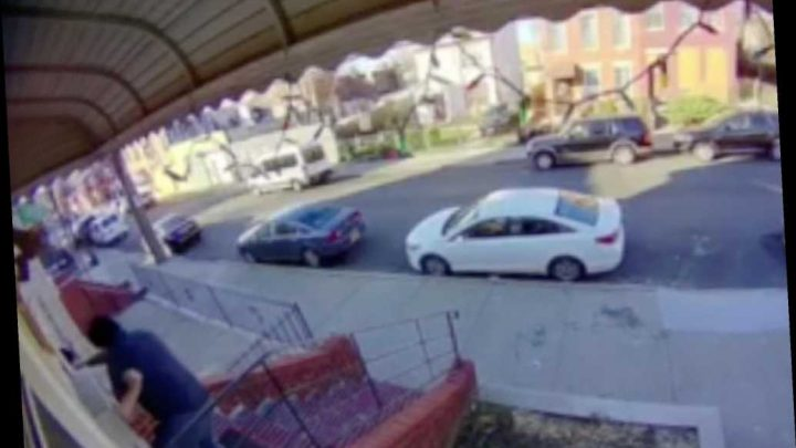 Shocking video shows moment Queens landlord is fatally shoved down flight of stairs