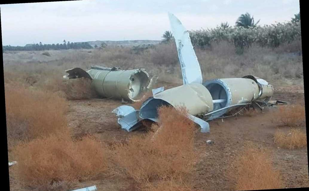 Photos show pieces of Iranian missiles that missed targets in Iraq
