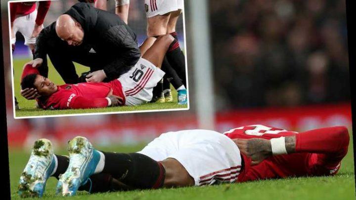 Man Utd dealt major blow as Marcus Rashford limps off just 15 minutes after coming off the bench against Wolves – The Sun