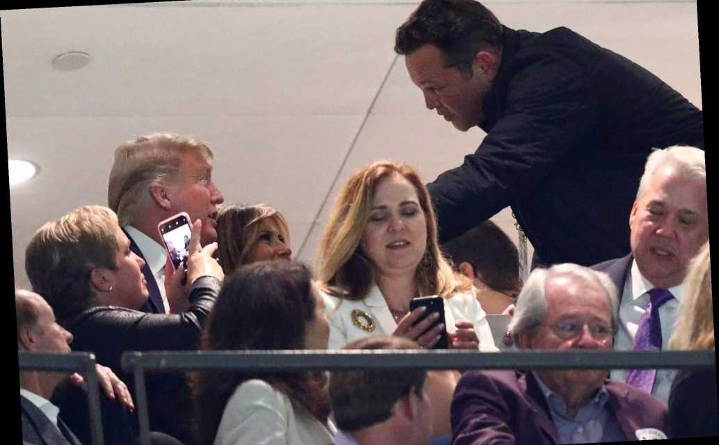 Vince Vaughn watches College Football National Championship Game with Donald Trump